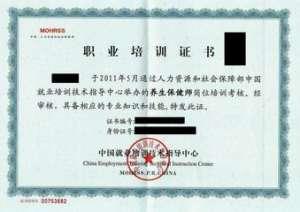 劳动部CETTIC证书