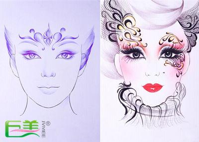 卡通化妆步骤图解