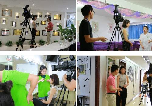 成都化妆学校巨美接受四川电视台专访