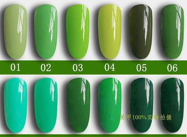绿色系美甲
