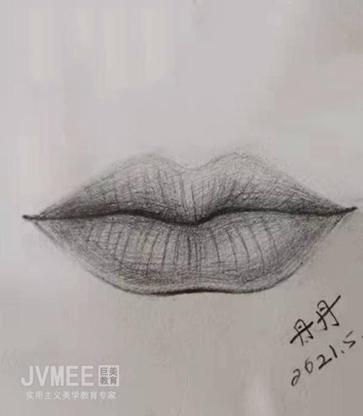 唇部素描-学员作品