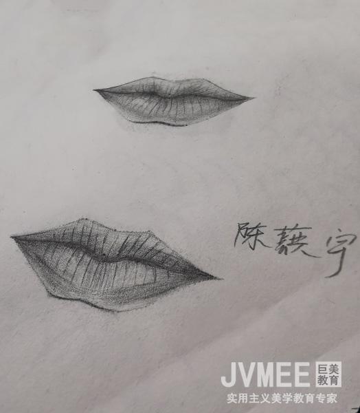唇部素描——学员作品