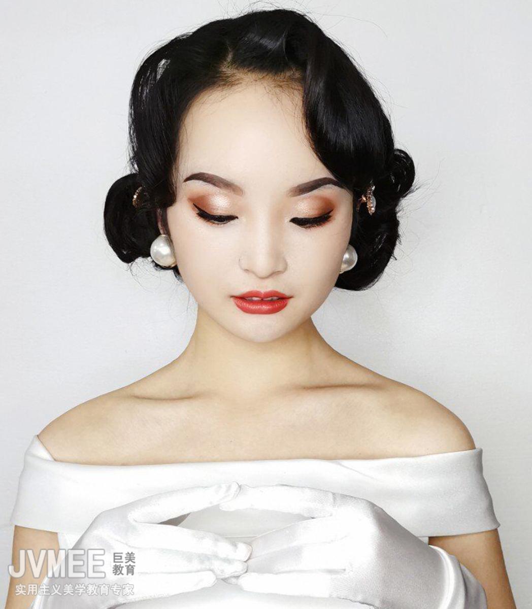 欧式新娘妆作品